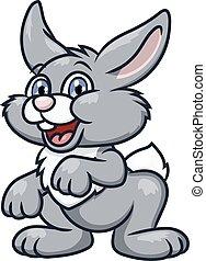 Cute smiling rabbit 2