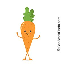 cute smiling vector carrot character design