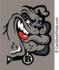 smirking bulldog  - cute smirking bulldog mascot