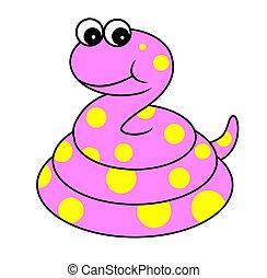 cute snake cartoon illustration