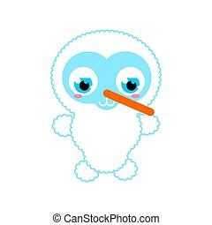 Cute Snowman baby isolated. Cartoon Snowman child. Christmas and New Year vector illustration