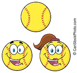 Cute Softball Collection Set