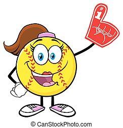 Cute Softball Girl Character