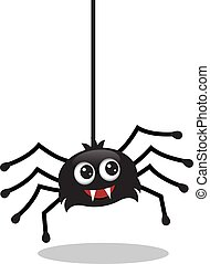 cute spider hanging