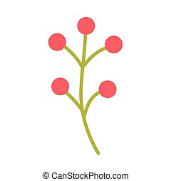 cute spring flower on white background