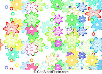 Cute Spring Flowers Abstract