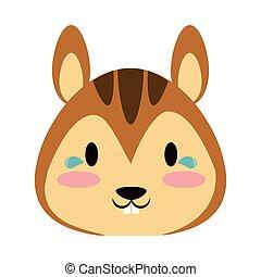Cute squirrel animal cartoon vector illustration