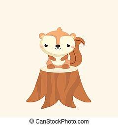Cute squirrel cartoon.