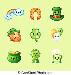 Cute St. Patrick's Day icons