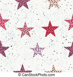 Cute Star Background. Seamless Pattern with stars.