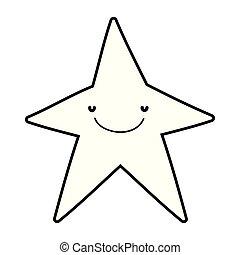 cute star kawaii character