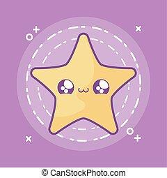 cute star kawaii style icon