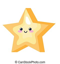 cute star magic kawaii style icon