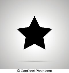 Cute star simple black icon