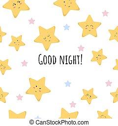 Cute Stars Seamless Pattern
