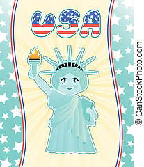 statue of liberty - cute statue of liberty on decorated...