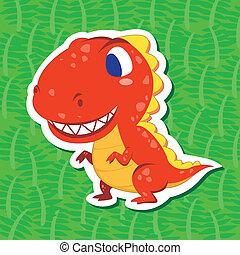 cute, sticker01, dinossauro