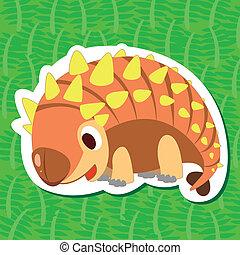 cute, sticker02, dinossauro