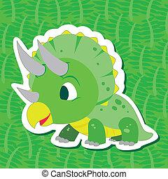 cute, sticker06, dinossauro