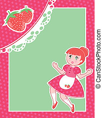 cute strawberry card