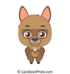 Cute stylized cartoon alpaca illustration ( for fun educational purposes, illustrations etc. )
