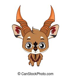Cute stylized cartoon eland illustration ( for fun educational purposes, illustrations etc. )