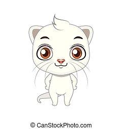 Cute stylized cartoon ermine illustration ( for fun...
