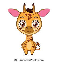 Cute stylized cartoon giraffe illustration ( for fun educational purposes, illustrations etc. )