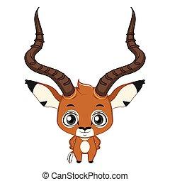 Cute stylized cartoon impala illustration ( for fun...