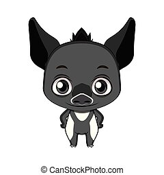Illustration Of Cute Tapir Cartoon