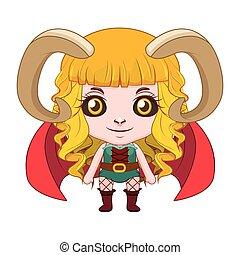 Cute succubbus illustration