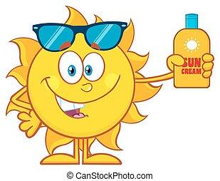 Cute Sun Cartoon Mascot Character
