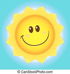 Cute Sun Simple Flat Design