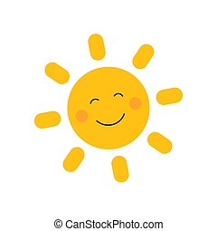 Cute sun with smile
