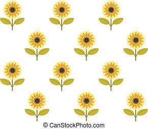 cute sunflower seamless pattern