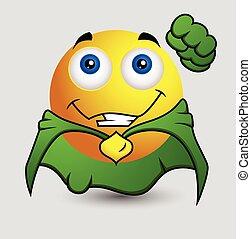 Cute Super Hero Smiley