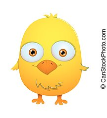 Cute Surprised Cartoon Bird