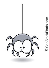 Cute Surprised Spider Character - Drawing Art of funny...