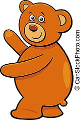 cute teddy bear cartoon character