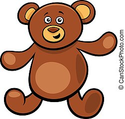 cute teddy bear cartoon toy character