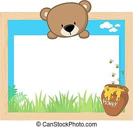 cute teddy bear frame