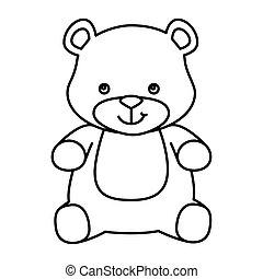 cute teddy bear isolated icon