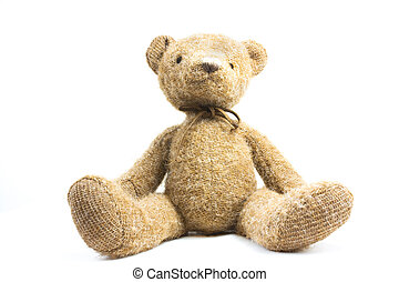 teddy bear - cute teddy bear isolated on white background