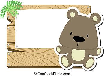 cute teddy bear signboard