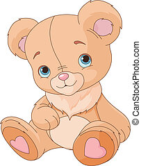 Cute Teddy Bear - Teddy bear against white background