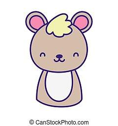 cute teddy bear toy cartoon icon