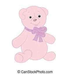 Cute teddy bear with patch.