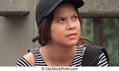 Cute Teen Female Student
