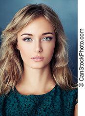 Cute teen girl, closeup portrait
