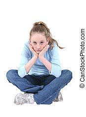 Cute Teen Girl in Blue and Denim